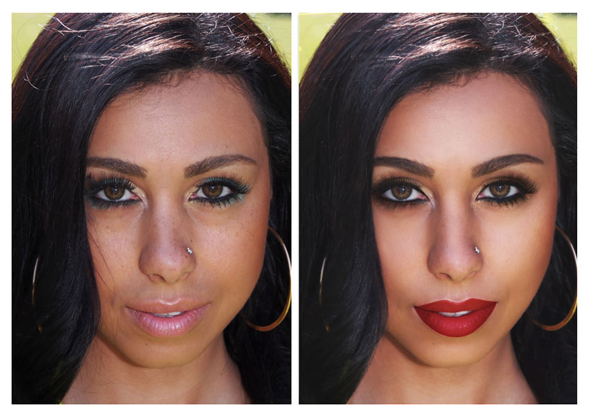 how to perfectly retouch makeup for beauty and fashion photography