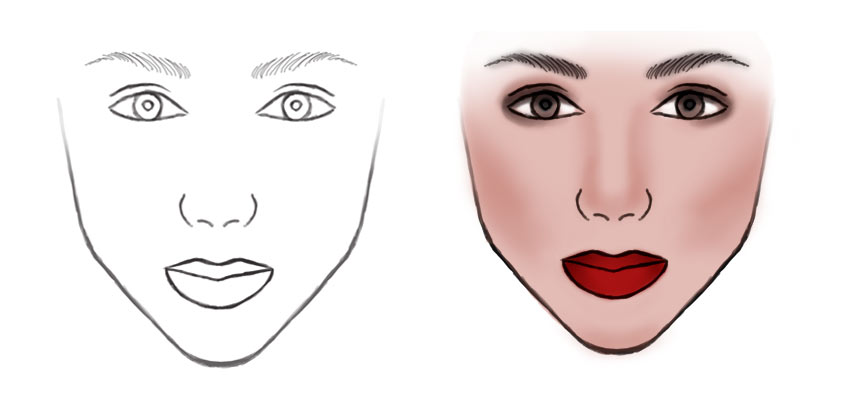 Create a Face Template Before Retouching Makeup in Photoshop