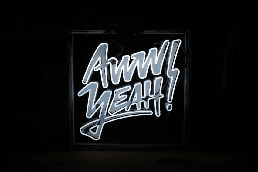 Aw Yeah Typography Neon Sign by Melissa So