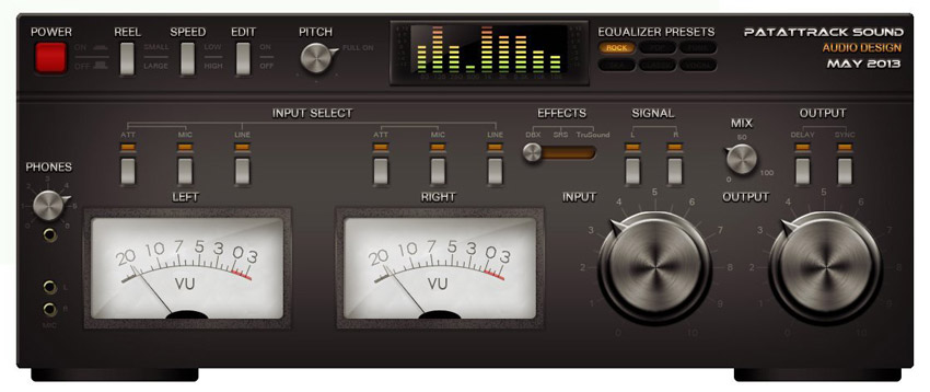 Photoshop Amplifier Interface by Patrice Redondo