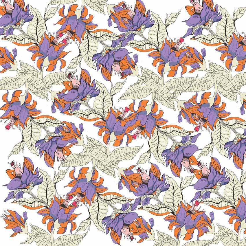 Fantasy Floral Pattern by Zaria Moon