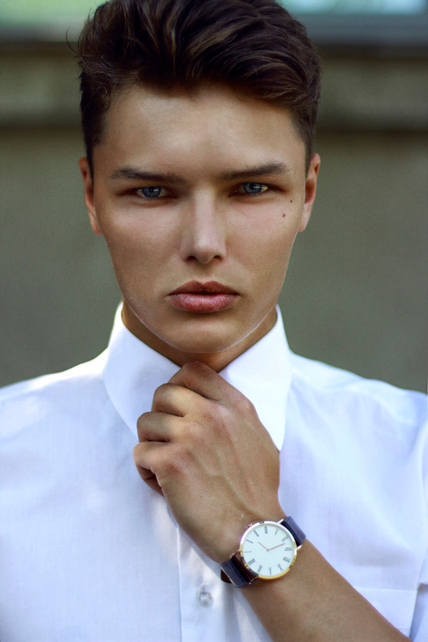 Fashionable Man with Watch
