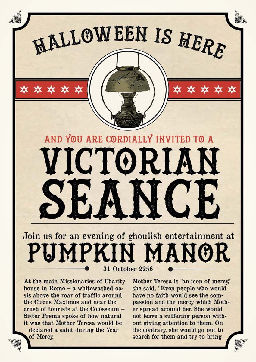 InDesign Vintage Halloween Poster by Jael