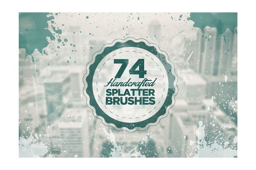 74 Handcrafted Splatter Brushes