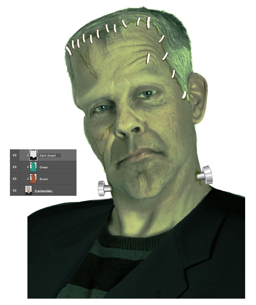 Change Frankensteins Color to Green