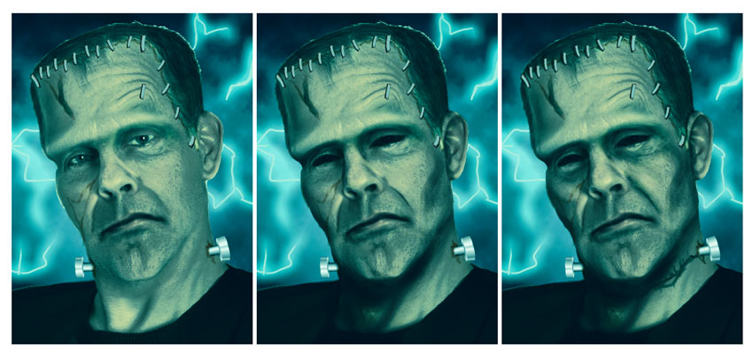 Paint Shadows to Sculpt Frankensteins Face