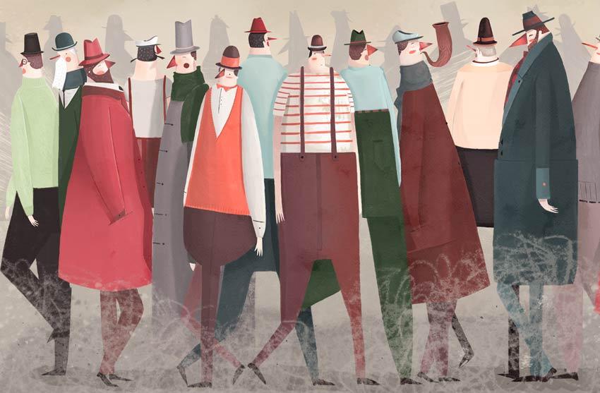 Los caminantes art by Santiago Oddis