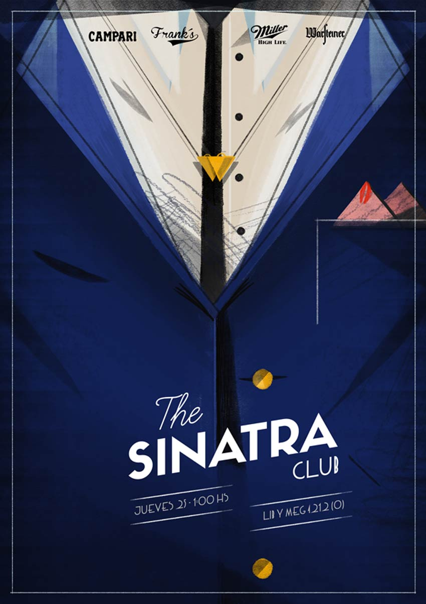 The Sinatra Club Poster Art by Santiago Oddis