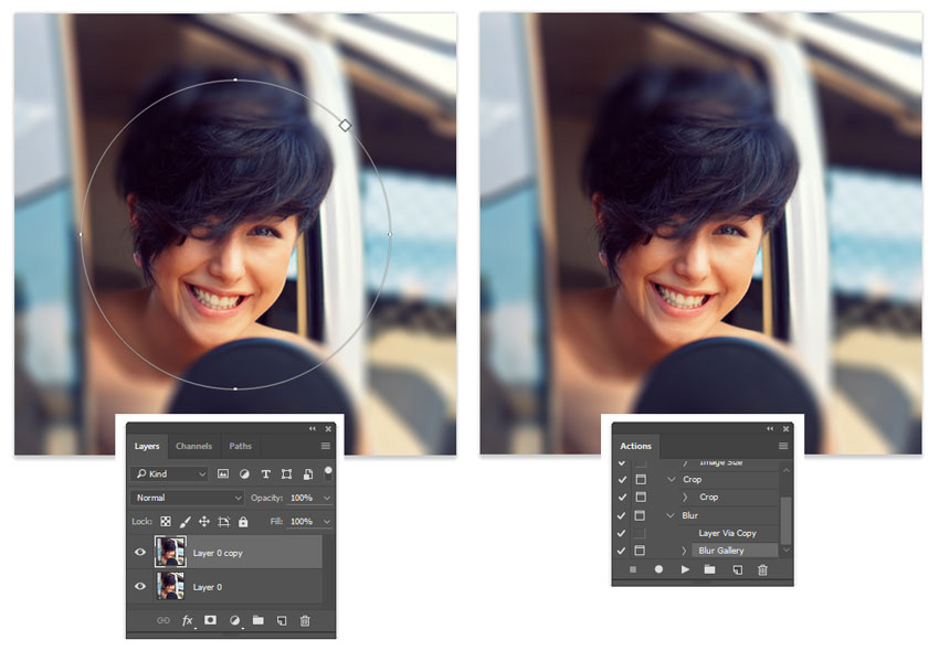 Create a Blur Photoshop Action