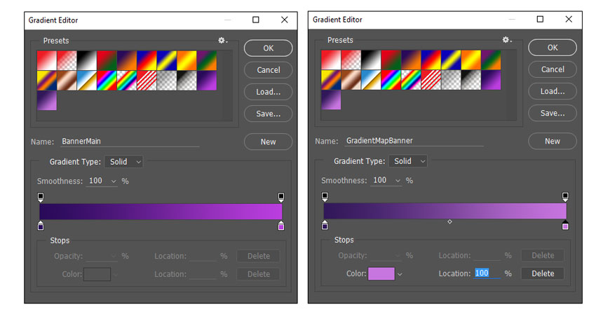 Create New Gradients in the Gradient Editor