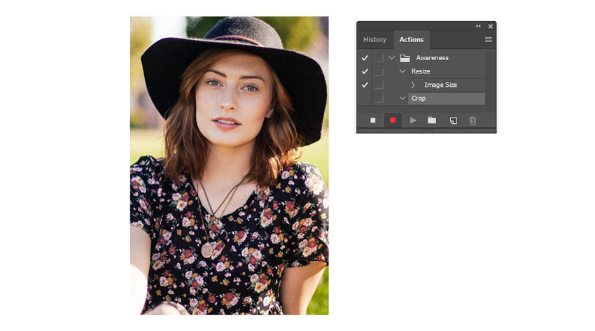 Create an Photoshop Action for Cropping