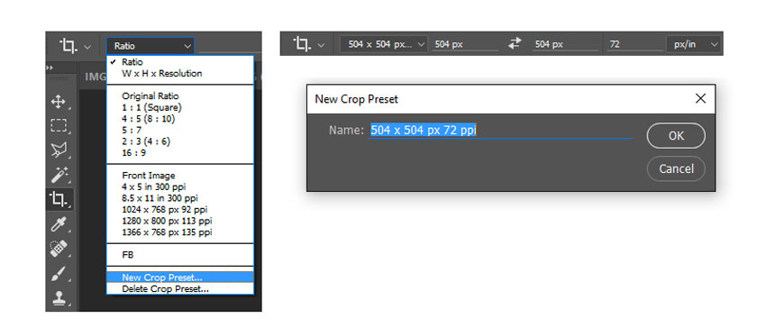 Create a Crop Preset in Photoshop for your Action