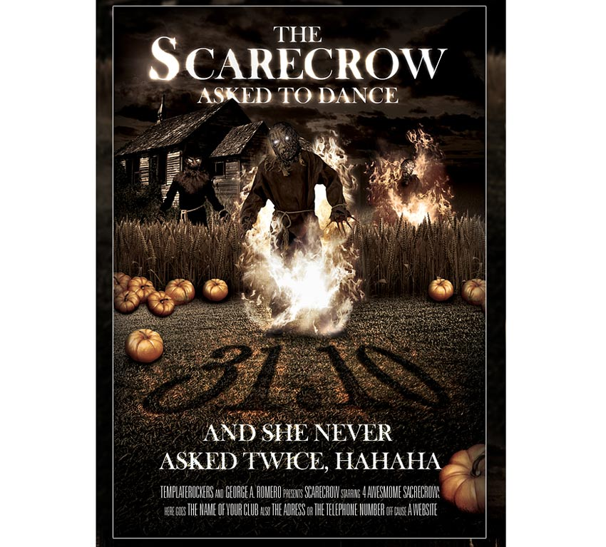 Scary Scarecrow Halloween Flyer