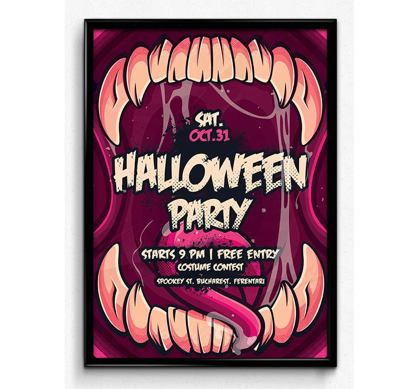 Halloween Monster Party Flyer