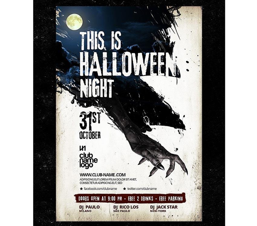 Spooky Hand Halloween Flyer