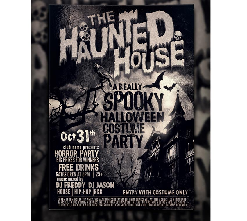Haunted House Halloween Flyer