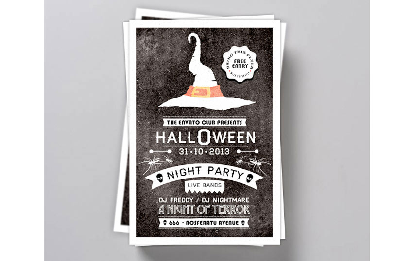 Typography Halloween Invite Flyer
