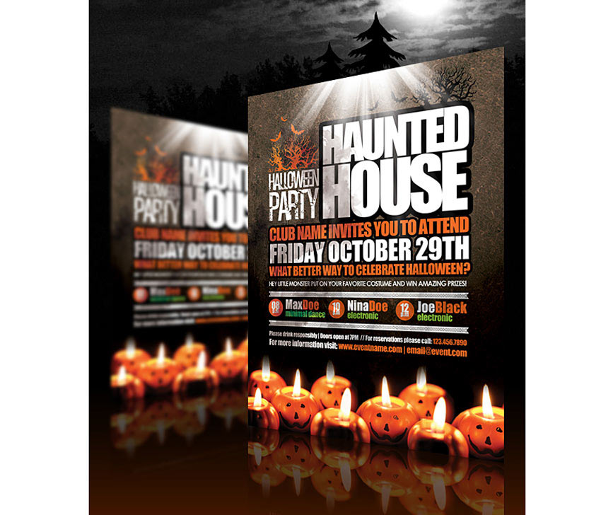 Halloween Haunted House Flyer
