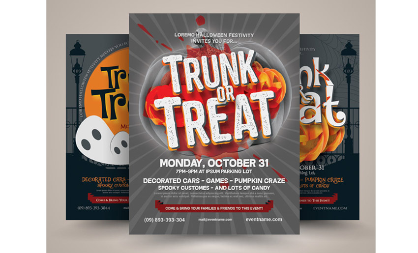 Halloween Trunk or Treat Flyer