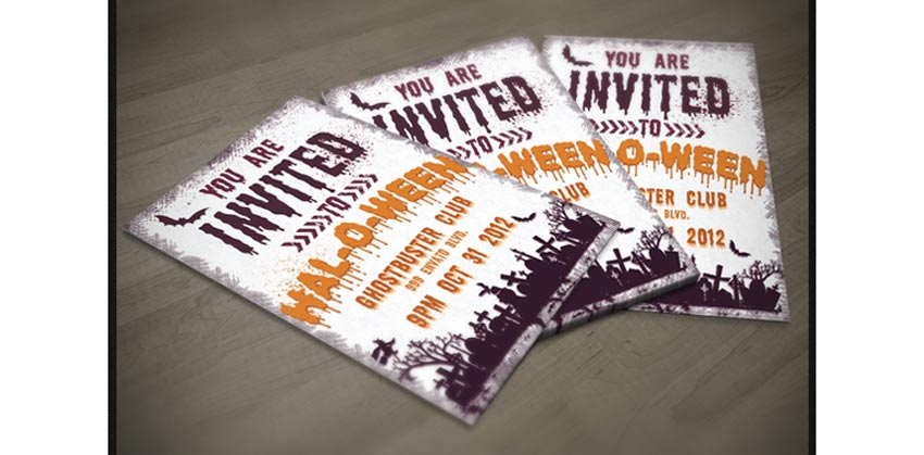Awesome Halloween Invitations And Flyers For Your Spooky Celebrations