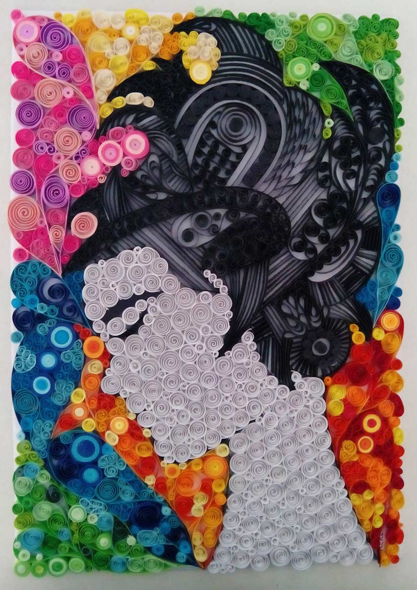 A Womans Thoughts Paper Art by Ayobola Kekere-Ekun