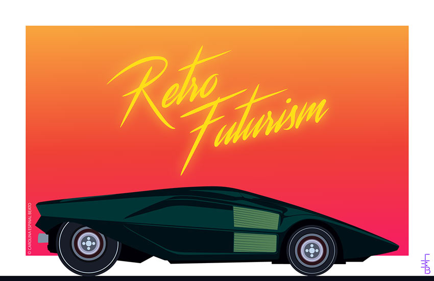 Retro Futurism by Carolina Espinal Beato  International Artist Feature: Puerto Rico carolina2a
