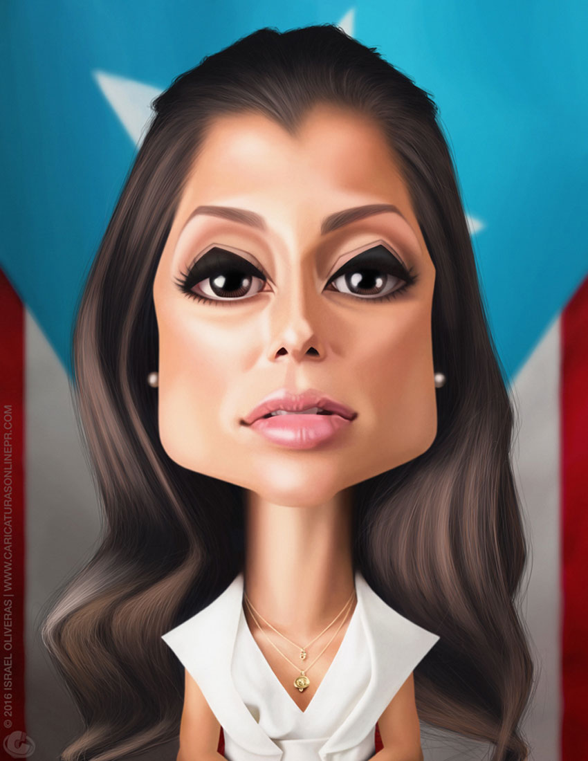 Alexandra Lgaro Caricature Art by Israel Oliveras  International Artist Feature: Puerto Rico israel4