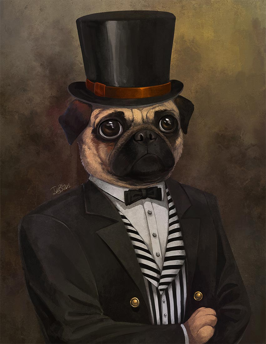 The Dapper Pug by Ivy Gladstone  International Artist Feature: Puerto Rico ivy3