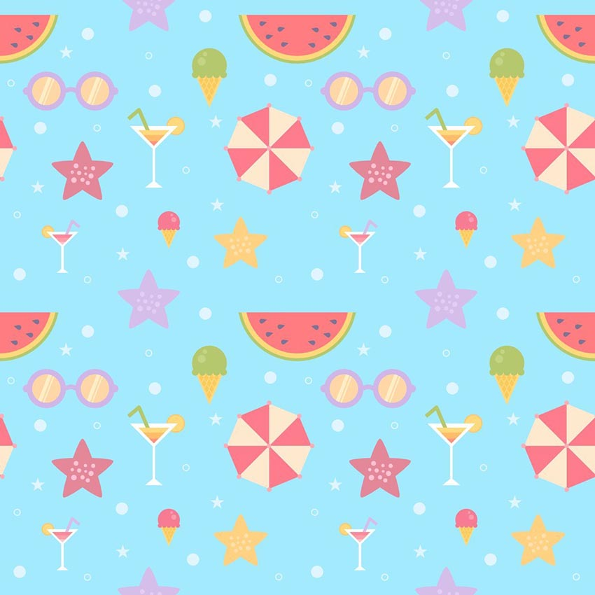 Summer Pattern in Affinity Designer by Lenart Livia