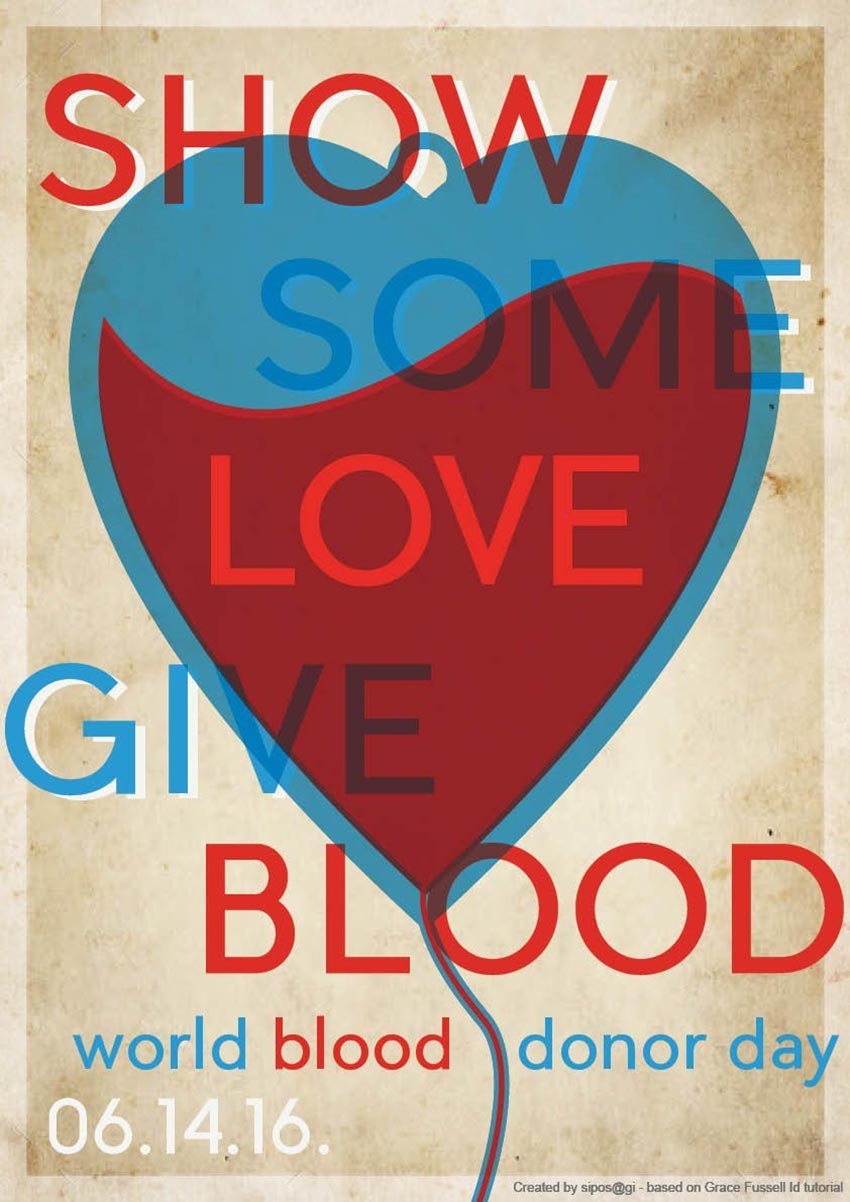 World Blood Donor Day Poster by Gi