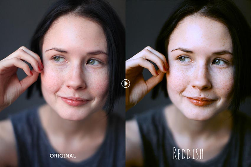Reddish Photoshop Actions Download