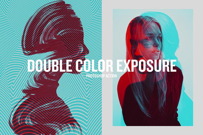 Double Color Exposure Photoshop Action Download