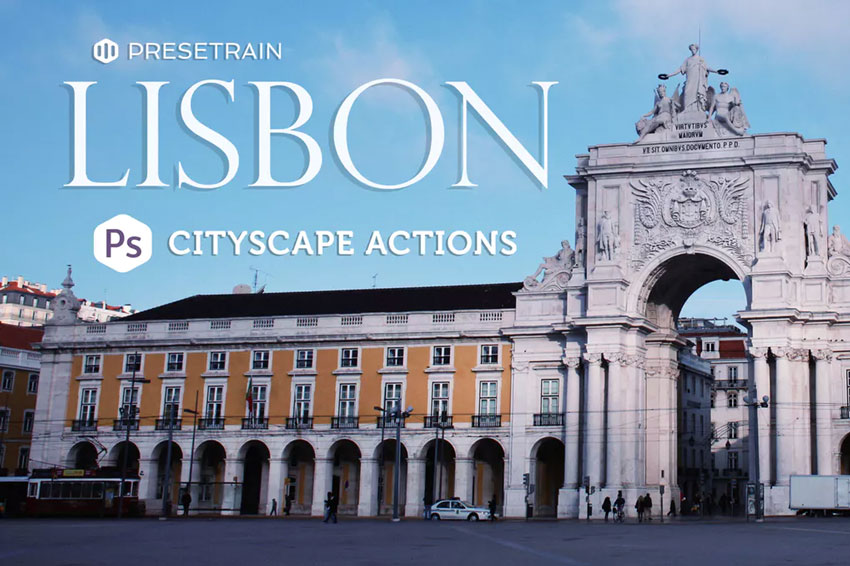Lisbon Cityscape Photoshop Actions Download