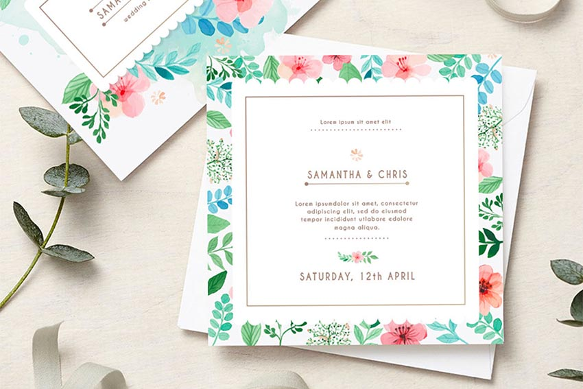 Wedding Stationery - Flower Style