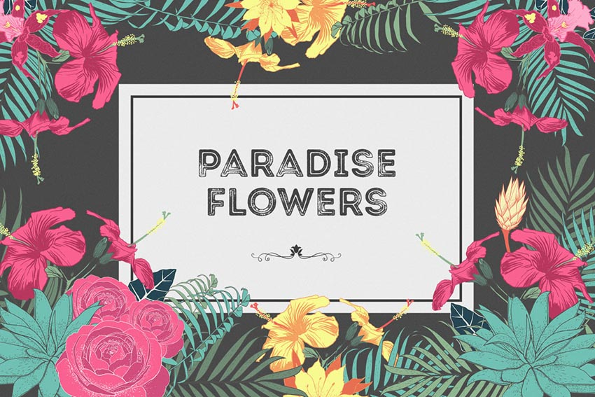 Paradise Flowers Pattern