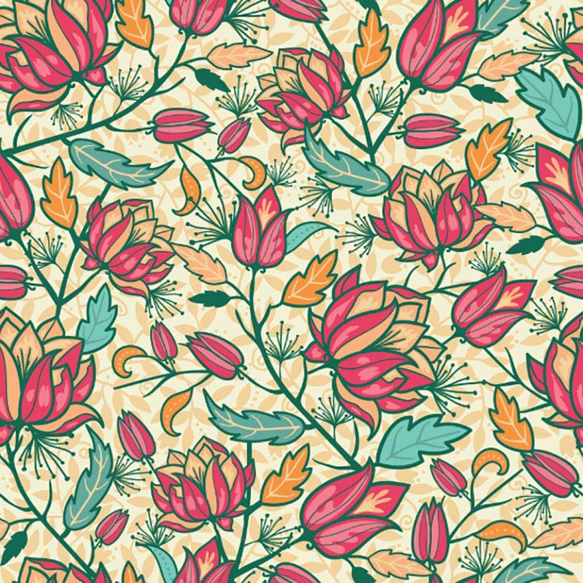 Fall Flower Pattern