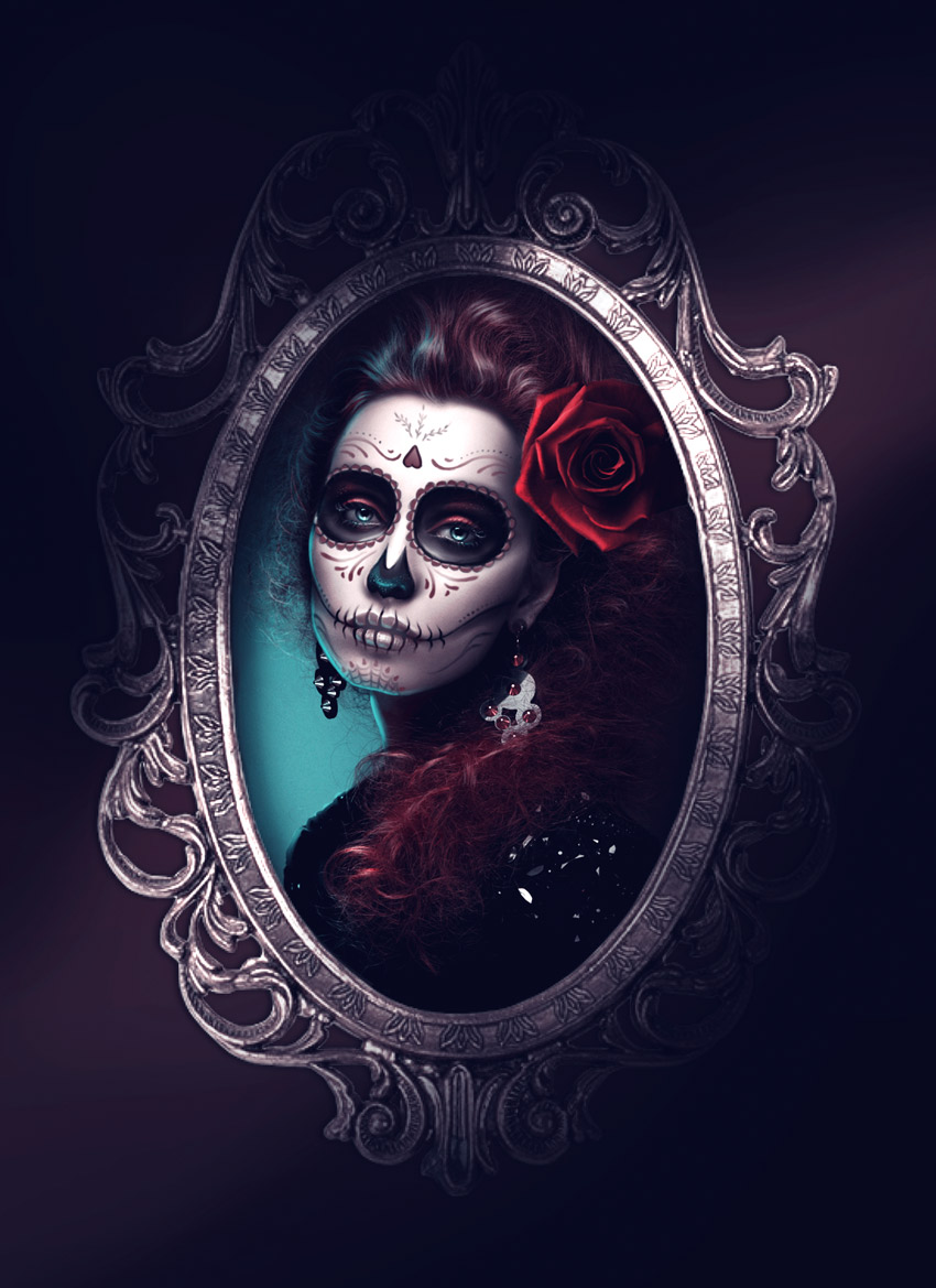 How To Create A Glamorous Calavera Portrait In Adobe Photoshop - Day-of-the-dead-makeup-tutorial-video
