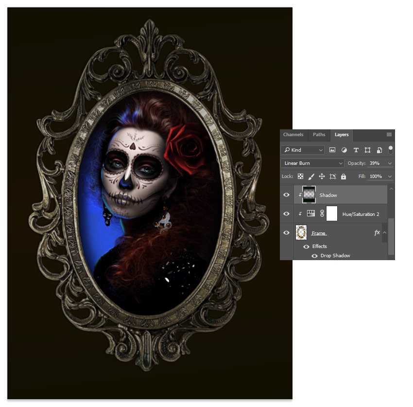 How To Create A Glamorous Calavera Portrait In Adobe Photoshop