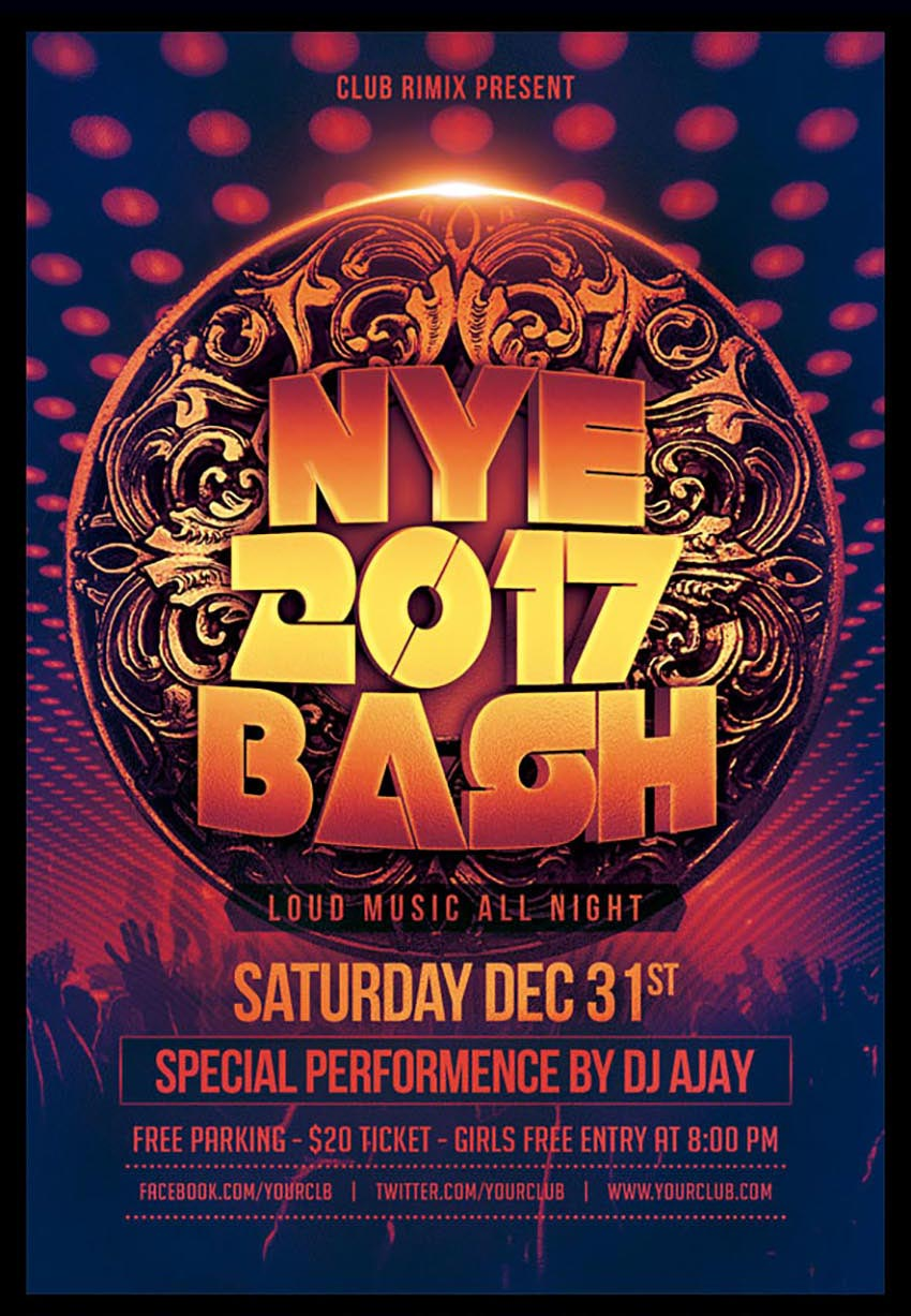 Ornate NYE Party Flyer