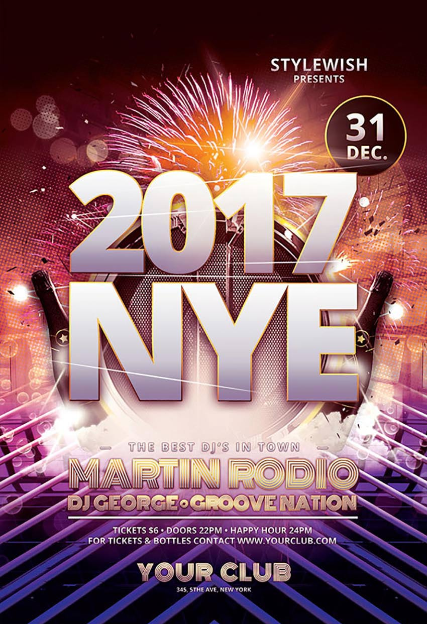 2017 new years eve flyer