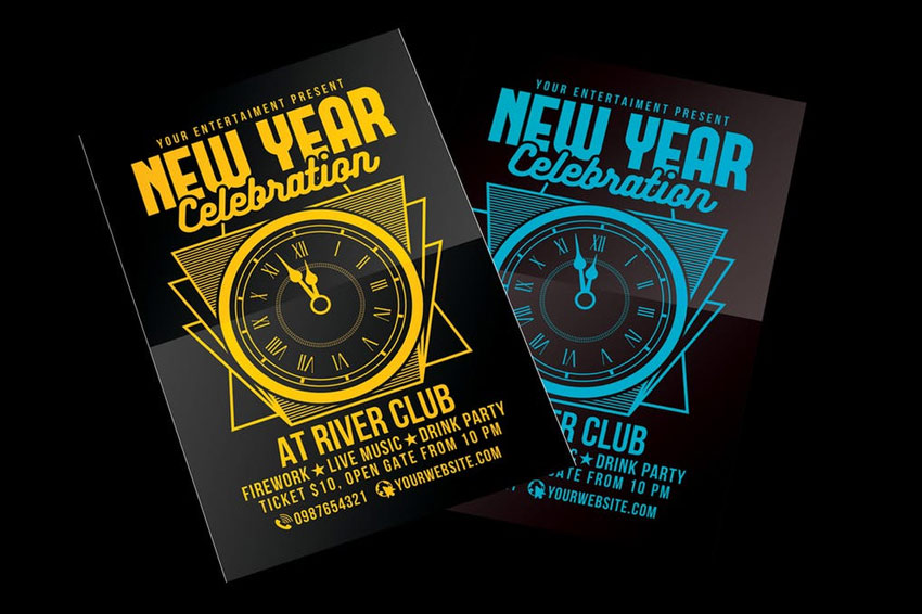 New Year Party Celebration Flyer