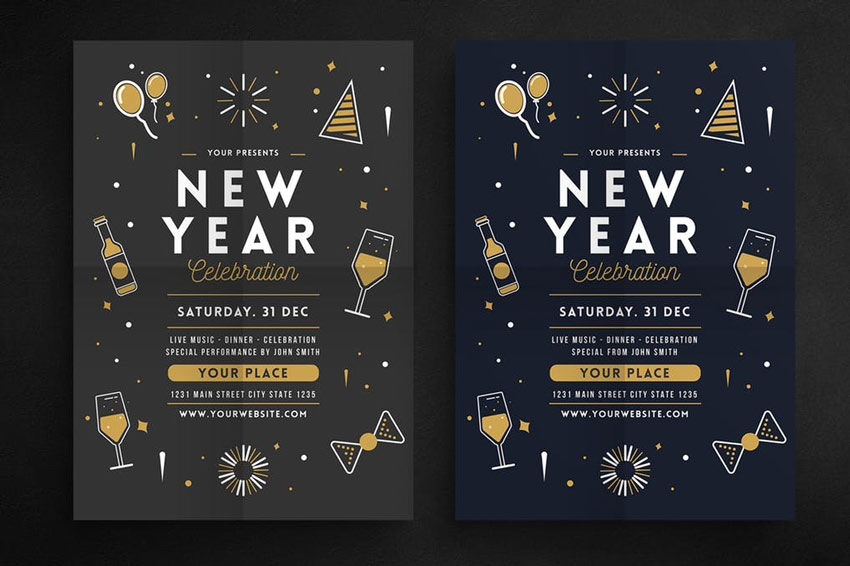 New Year Celebration Flyer