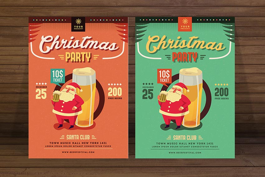 Christmas Beer Party Flyer