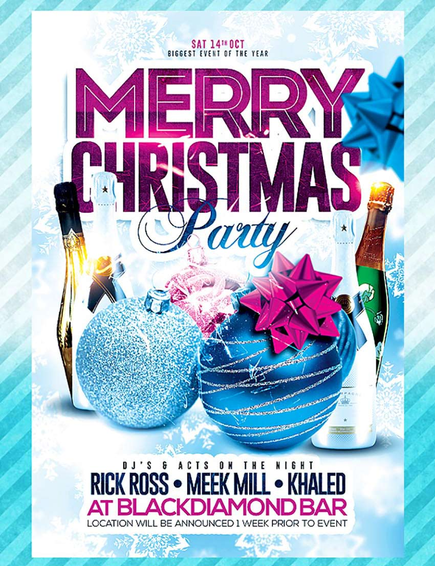 amazing christmas and new year s eve flyers for the holiday season merry christmas party flyer template