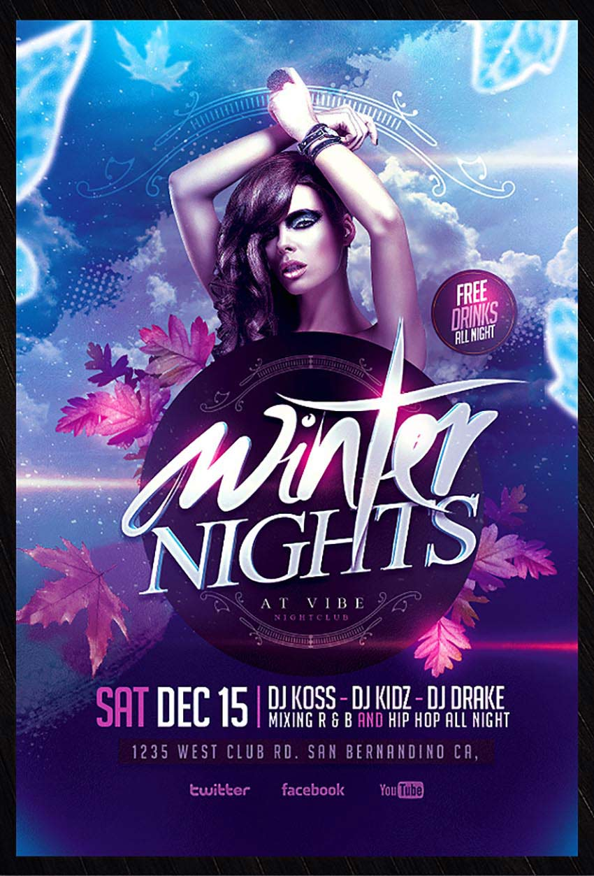 50 amazing christmas and new year s eve flyers for the holiday season winter party psd flyer