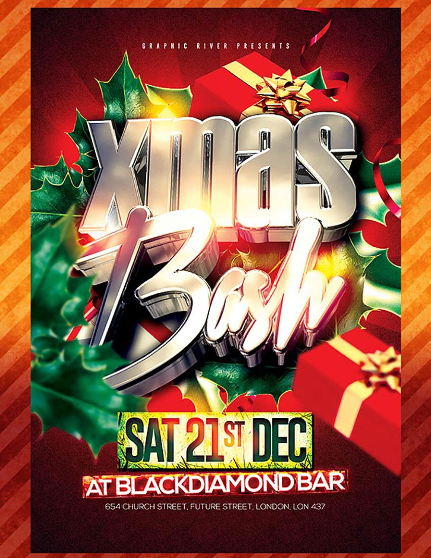 amazing christmas and new year s eve flyers for the holiday season xmas bash flyer template