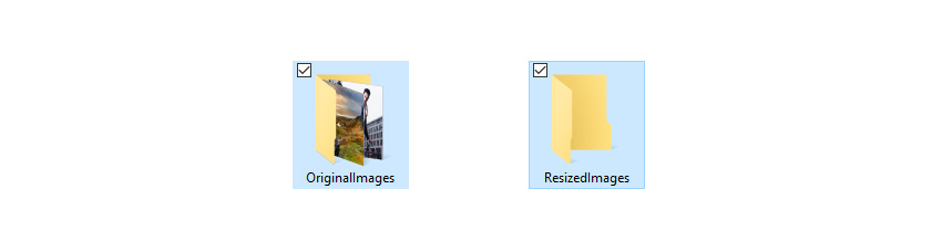 Creating Folder to Resize Images in Photoshop
