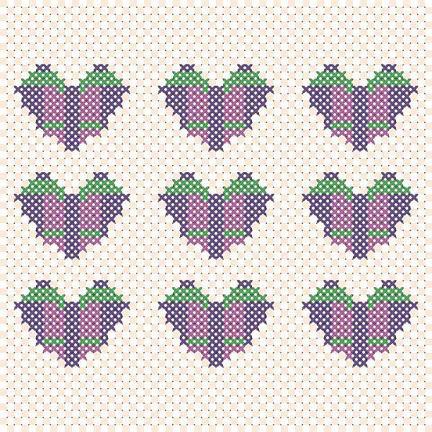 Vector Cross Stitch Effect by Sasha