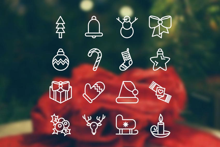 Christmas 16 Icons Set