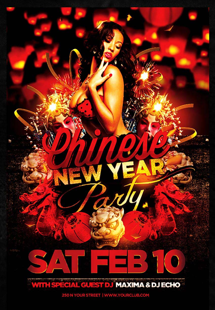 Sexy Chinese New Year Flyer